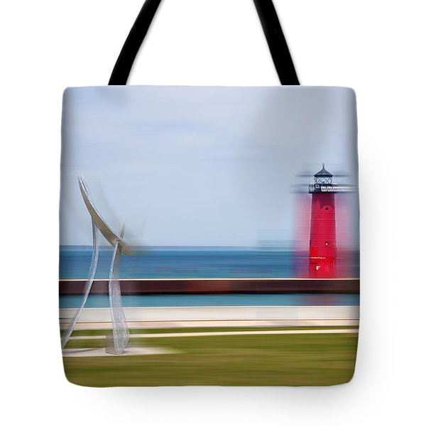Art By The Lake Shore Tote Bag