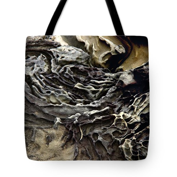 Tote Bag featuring the photograph Art By Weather by Yumi Johnson