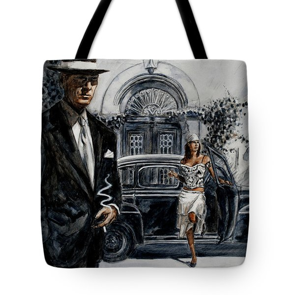 Art Cafe 1900 Tote Bag by Theo Michael