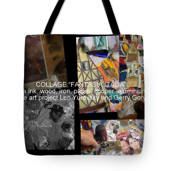 art collage Italy Tote Bag