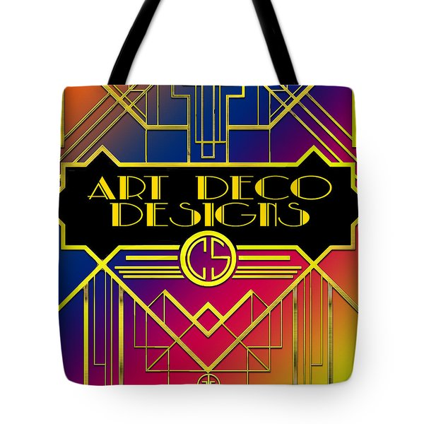 Tote Bag featuring the digital art Art Deco Designs by Chuck Staley