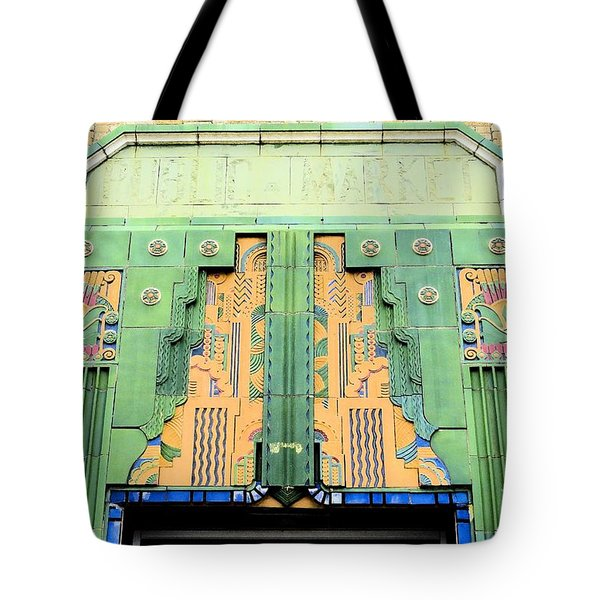 Art Deco Facade At Old Public Market Tote Bag