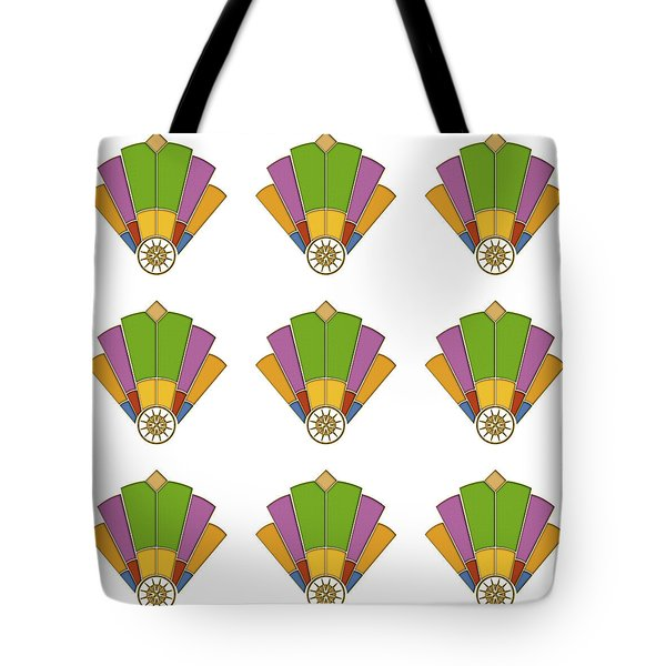 Art Deco Fan 2 Multiview Tote Bag