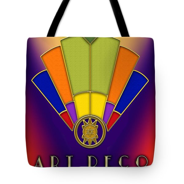 Tote Bag featuring the digital art Art Deco Fan 6 Titled by Chuck Staley