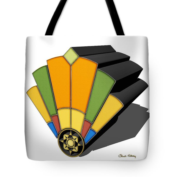 Art Deco Fan 8 3 D Tote Bag
