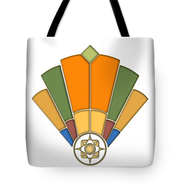Art Deco Fan 8 Transparent Tote Bag