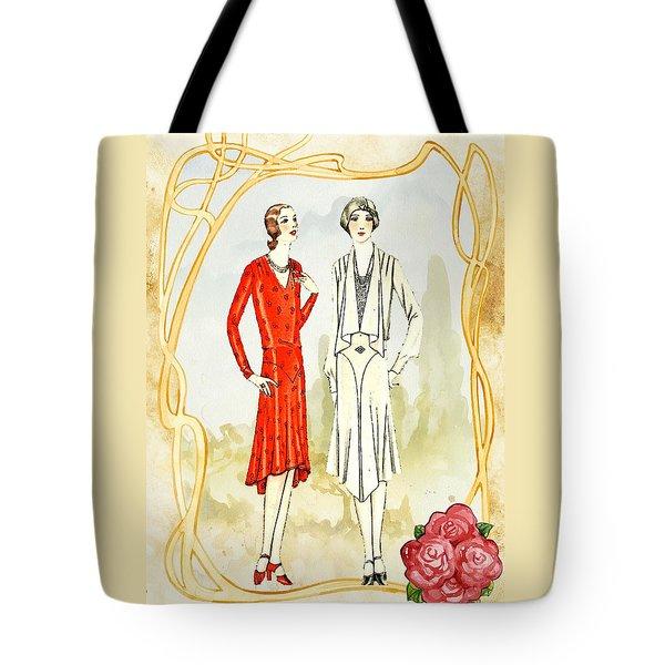 Art Deco Fashion Girls Tote Bag