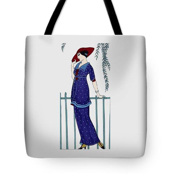 Art Deco Fashion Polka Dots Tote Bag