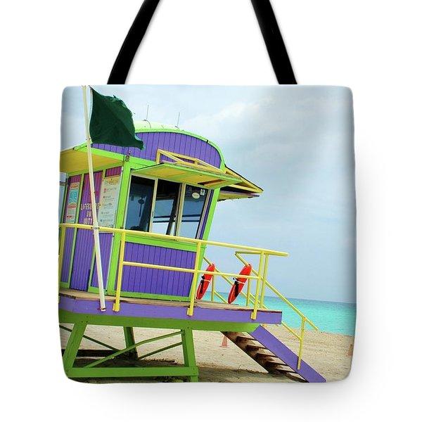 Art Deco Lifeguard Shack Tote Bag