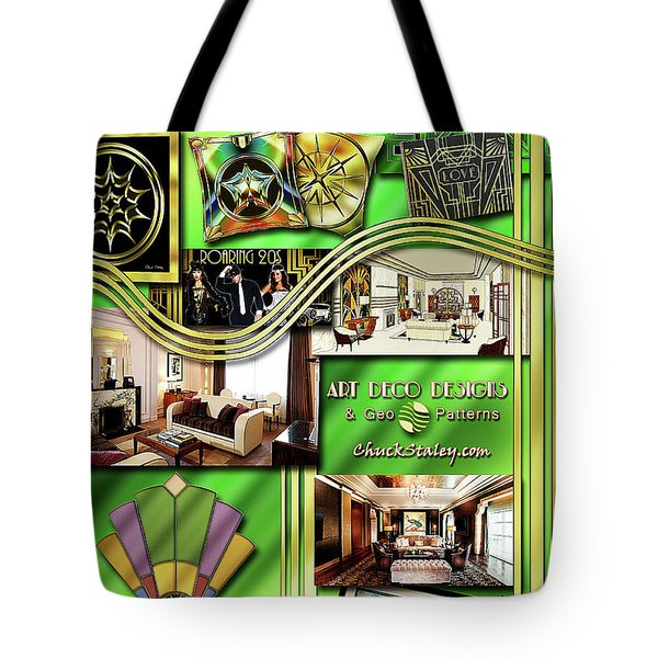 Tote Bag featuring the digital art Art Deco Mood Board by Chuck Staley