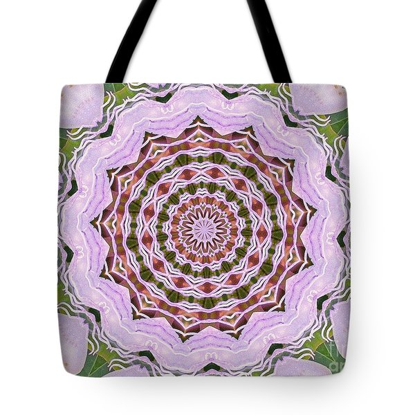 Art Deco Pink Floral Tote Bag by Shirley Moravec