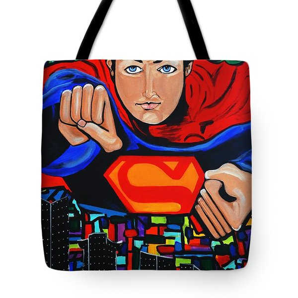 Art Deco  Superman Tote Bag