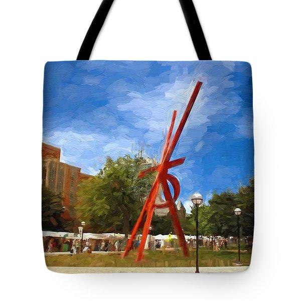 Art Fair Painting Tote Bag