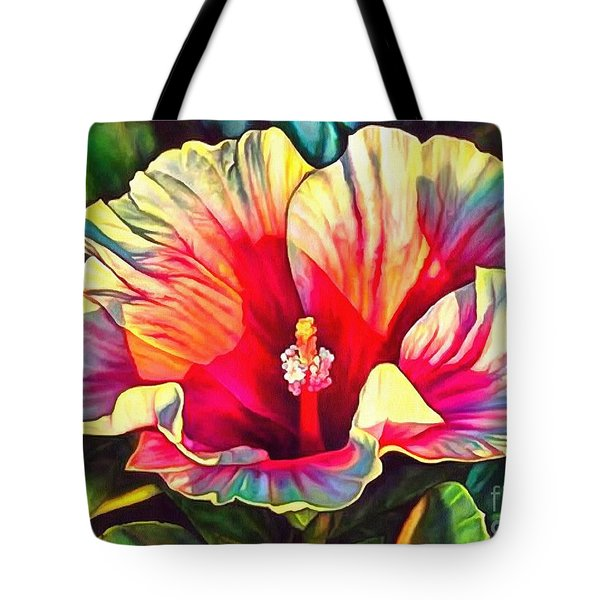 Art Floral Interior Design On Canvas Tote Bag by Catherine Lott