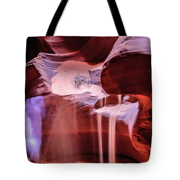 Tote Bag featuring the photograph Art From Antelope Canyon by Louis Dallara