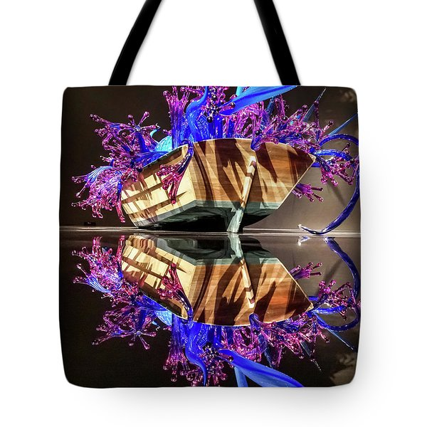 Art Glass Reflection By Chihuly Tote Bag