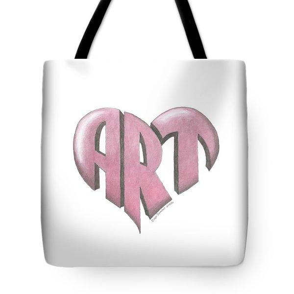Art Heart Tote Bag