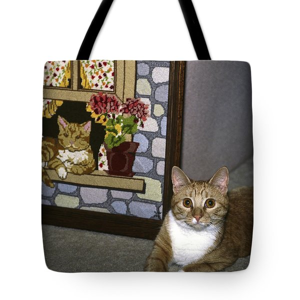 Art Imitates Life Tote Bag by Sally Weigand