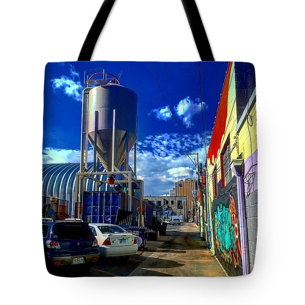Art In The Alley Tote Bag