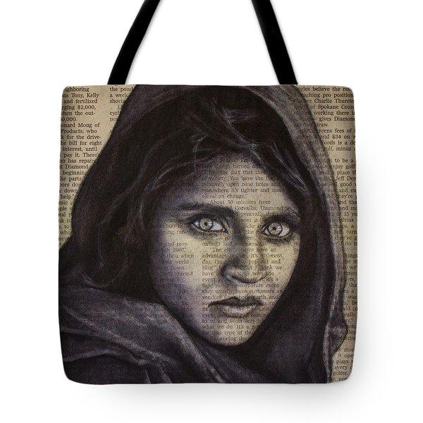 Art In The News 64-afghan Girl Tote Bag