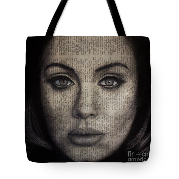 Art In The News 72-adele 25 Tote Bag by Michael Cross