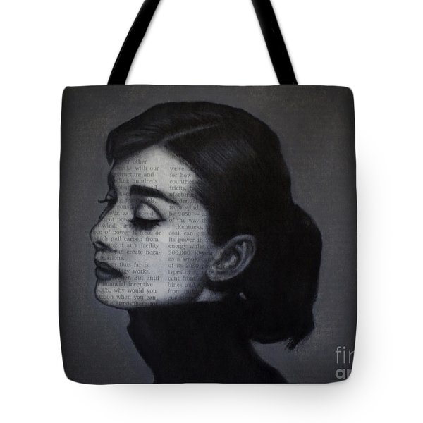 Art In The News 98-audrey Hepburn Tote Bag