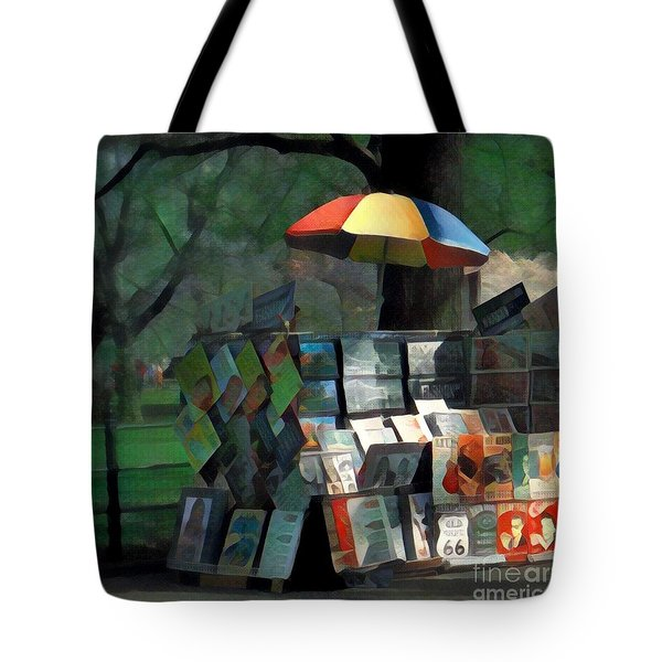 Art In The Park - Central Park New York Tote Bag by Miriam Danar