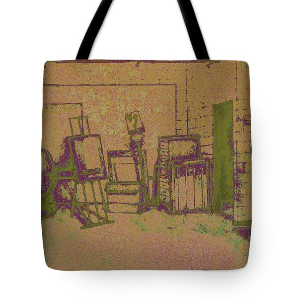 Art Intro Mixed Media Tote Bag by Hye Ja Billie