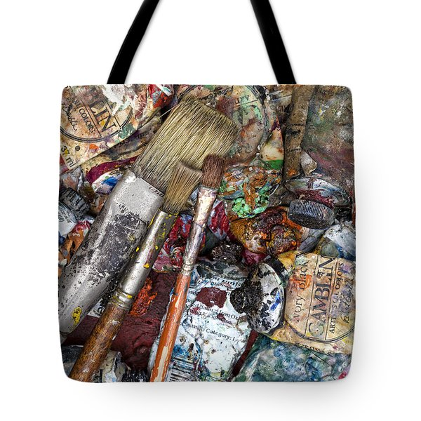 Art Is Messy 5 Tote Bag by Carol Leigh