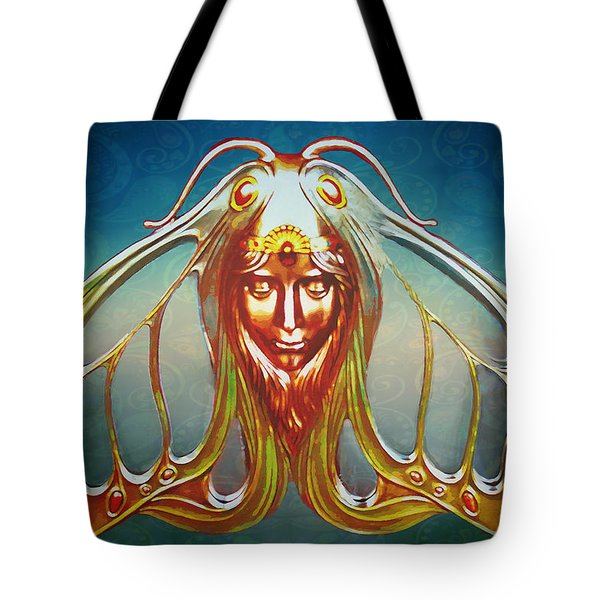 Art Nouveau Butterfly Woman Tote Bag