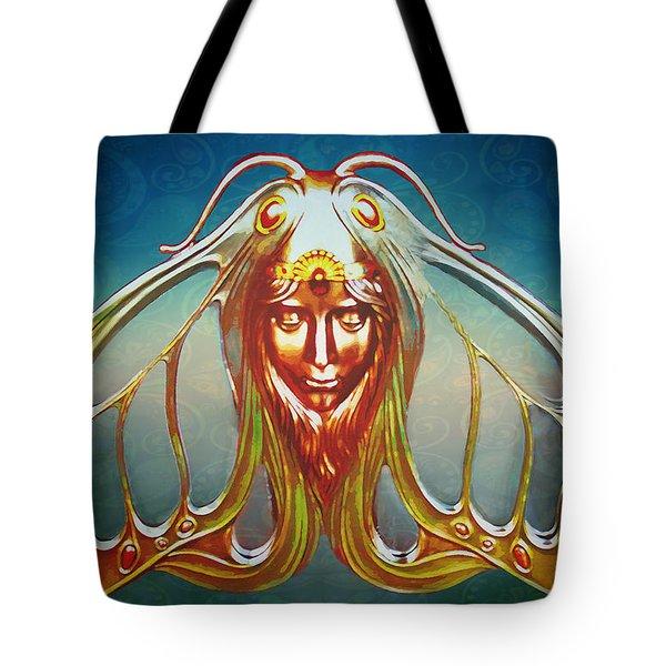 Art Nouveau Butterfly Woman Tote Bag