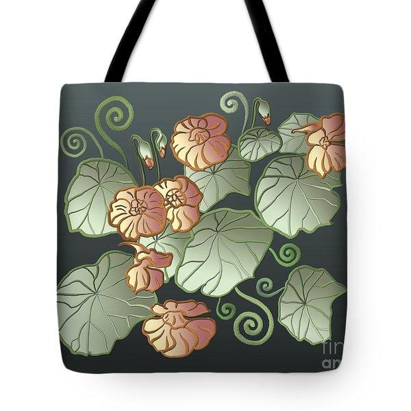 Art Nouveau Garden Tote Bag