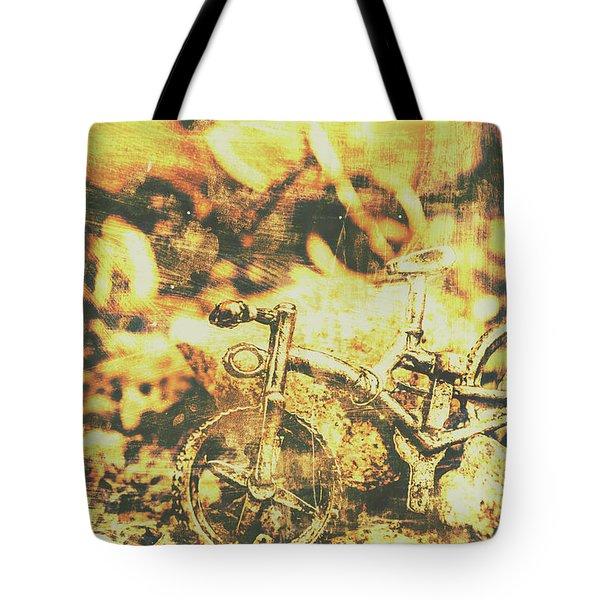 Art Of Mountain Biking Tote Bag