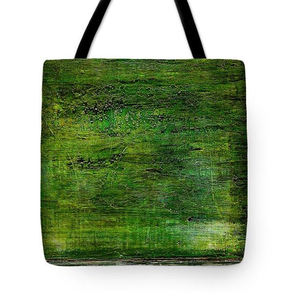 Art Print Green White Tote Bag