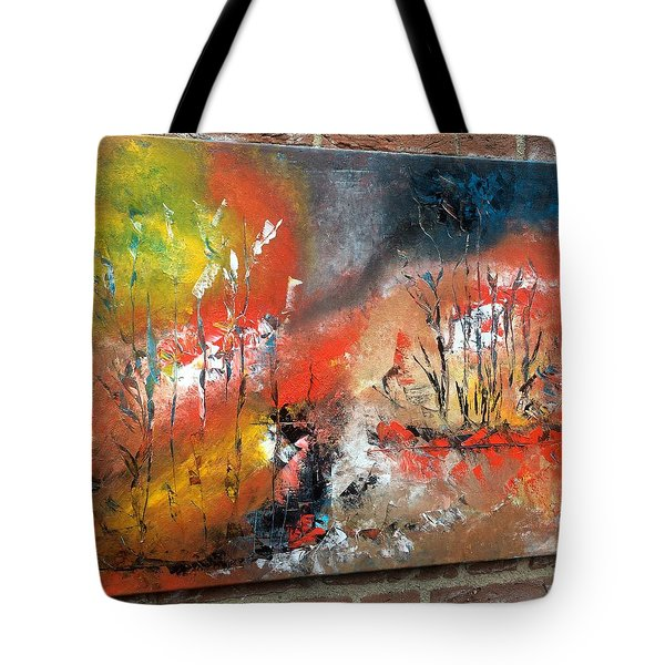 Tote Bag featuring the painting Art Work by Sheila Mcdonald