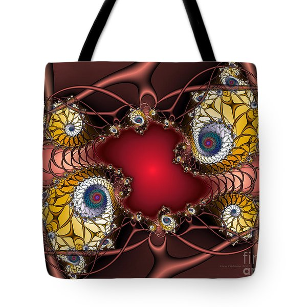 Tote Bag featuring the digital art Artdeco by Karin Kuhlmann