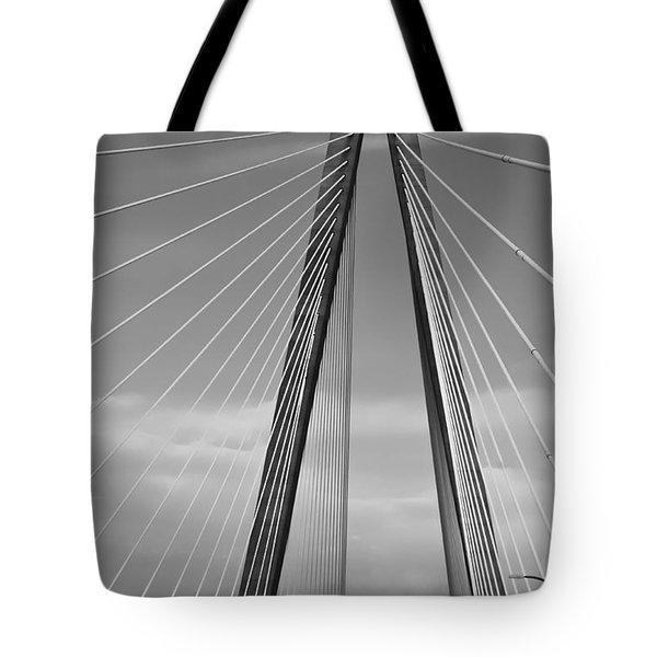Arthur Ravenel Jr Bridge II Tote Bag by DigiArt Diaries by Vicky B Fuller