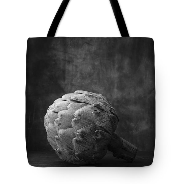 Artichoke Black And White Still Life Tote Bag by Edward Fielding
