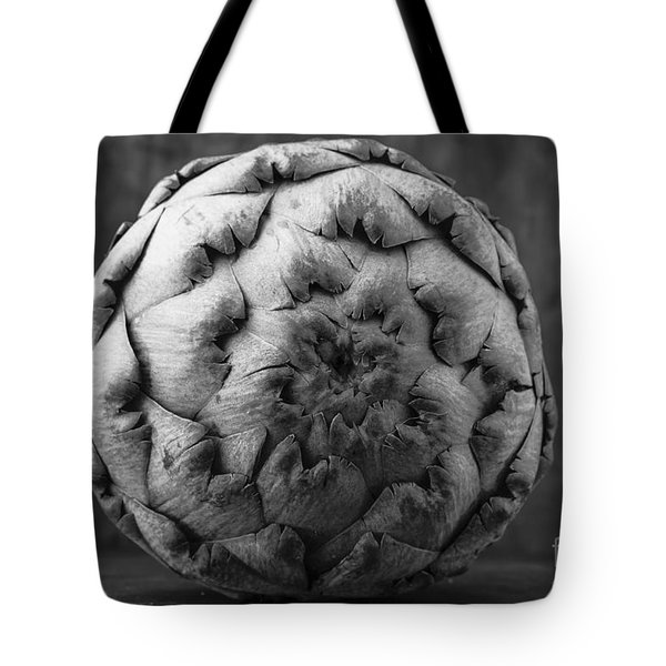 Artichoke Black And White Still Life Two Tote Bag by Edward Fielding