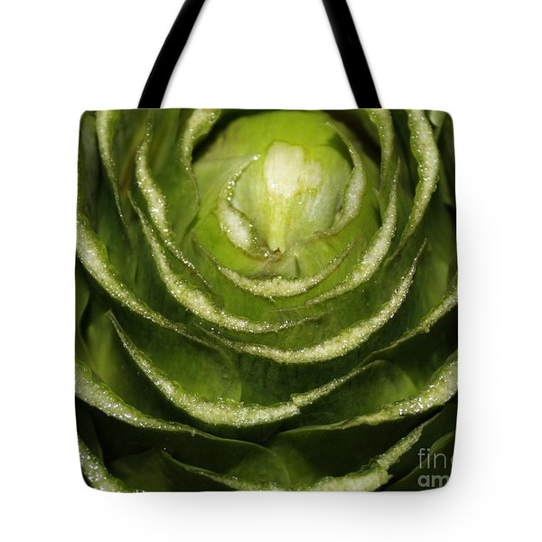 Artichoke Close-up Tote Bag by Carol Groenen