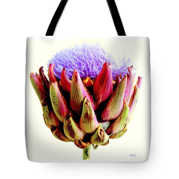 Artichoke In Bloom Tote Bag