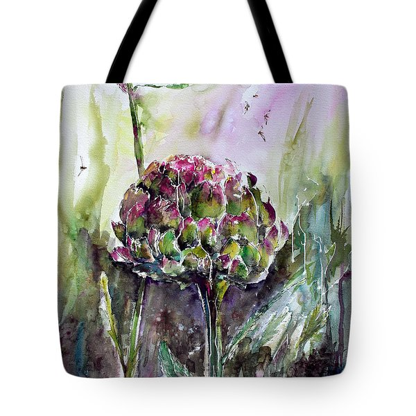 Artichoke Watercolor And Ink By Ginette Tote Bag