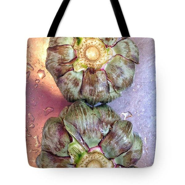 Tote Bag featuring the photograph Artichokes In The Sink by Olivier Calas