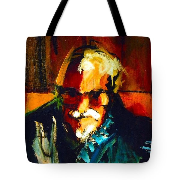 Tote Bag featuring the painting Artie by Les Leffingwell