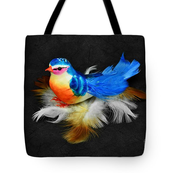 Artificial Blue Bird Tote Bag