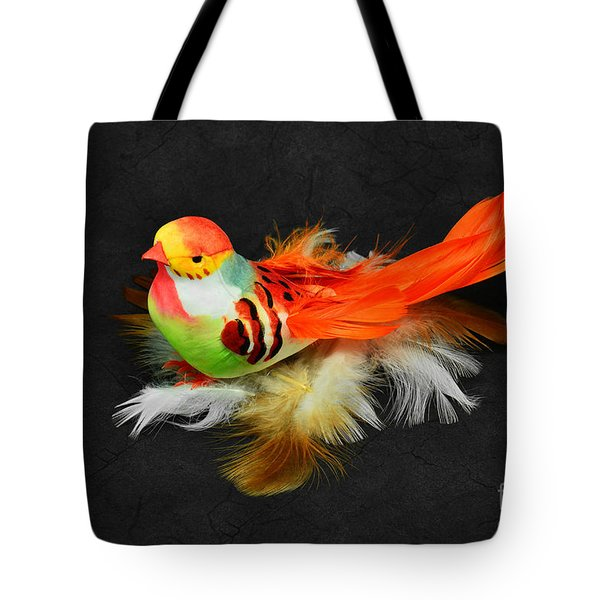 Artificial Orange Bird Tote Bag