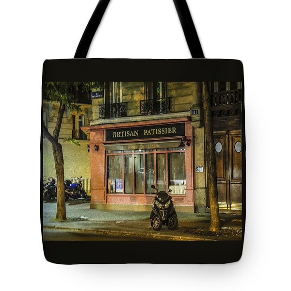Artisan Patissier Montmartre Paris Tote Bag by Sally Ross