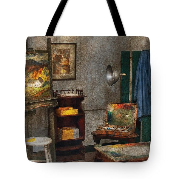 Artist - Painter - The Artists Studio Tote Bag by Mike Savad