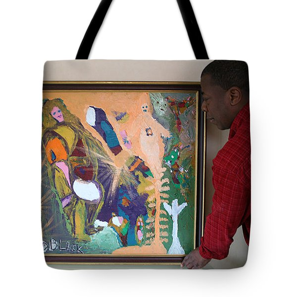 Artist Darrell Black With Dominions Creation Of A New Millennium Tote Bag