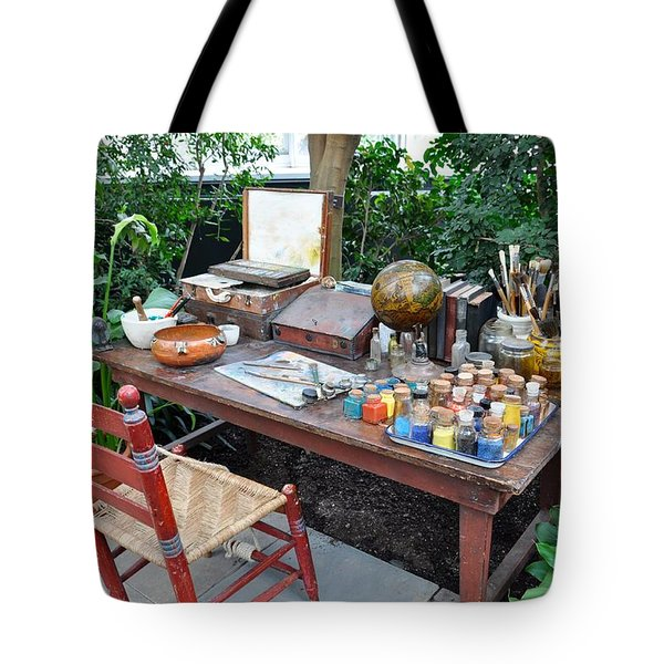 Frida Kahlo's Desk And Chair Tote Bag